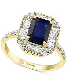 EFFY® Sapphire (1 1/2 ct. t.w.) & Diamond (1/2 ct. t.w.) Ring in 14k Gold
