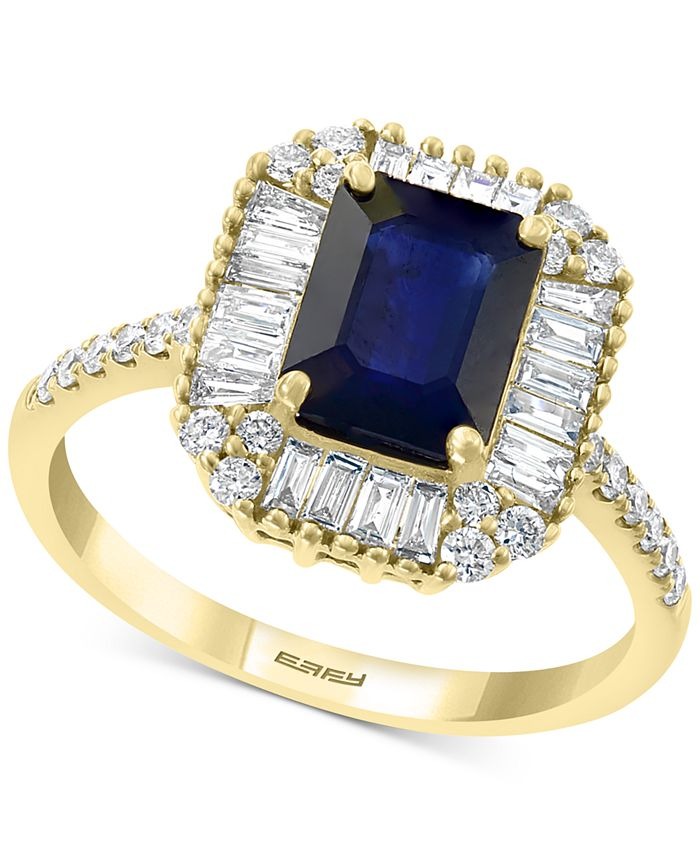 EFFY Collection - xSapphire (1 1/2 ct. t.w.) & Diamond (1/2 ct. t.w.) Ring in 14k Gold