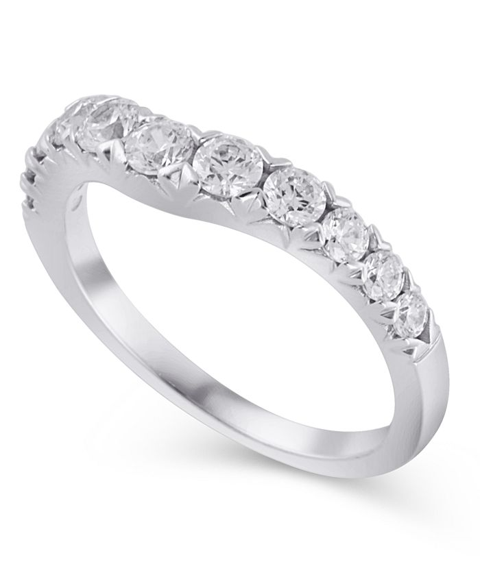 Macy's - Certified Diamond (3/4 ct. t.w.) Contour Band in 14K White Gold