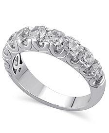 Certified Diamond (2 ct. t.w.) Ring in 14k White Gold