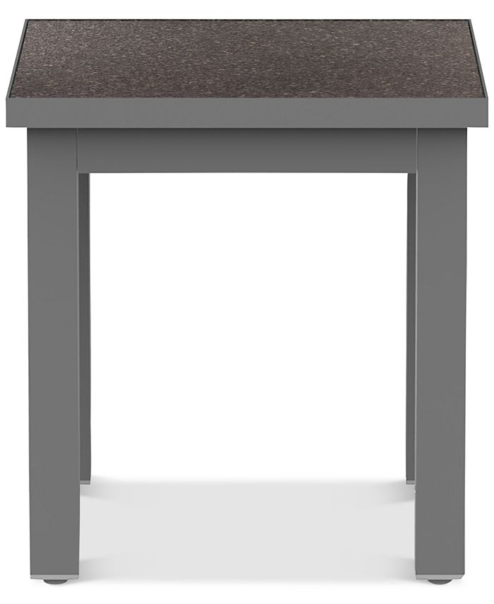 """Furniture - Carleese 20"""" Square Outdoor End Table with Cal Sil Top"""