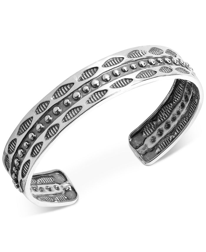 American West - Decorative Wisdom Cuff Bracelet in Sterling Silver