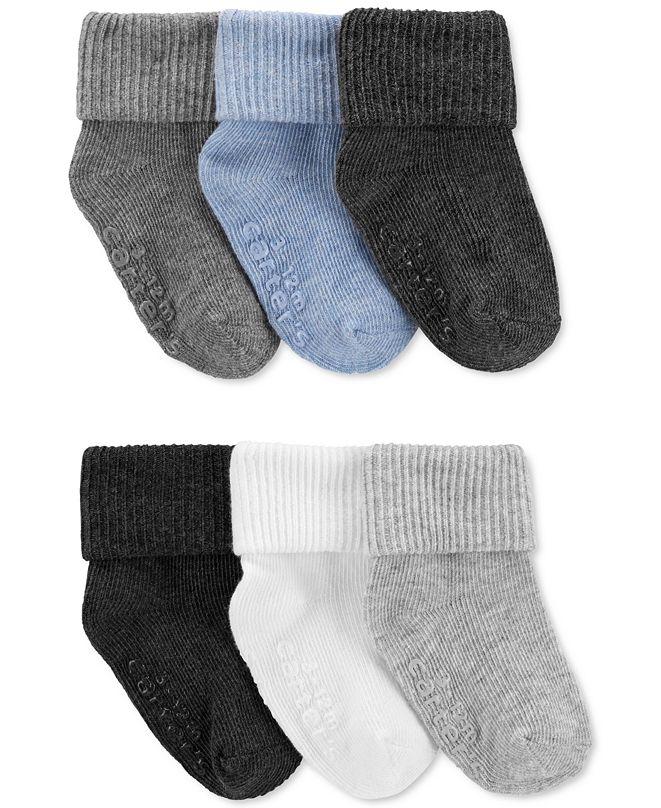 Carter's Baby Boys 6-Pk. Foldover Cuff Socks
