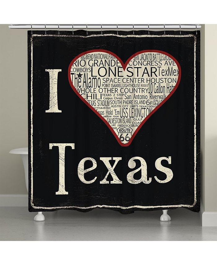 Laural Home - I Love Texas Shower Curtain