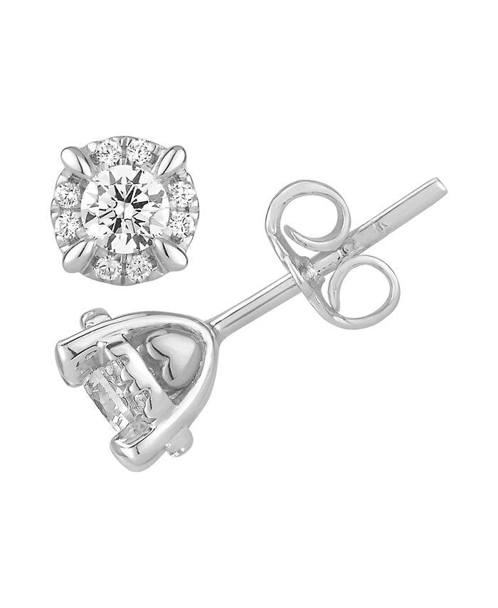 Macy's - Certified Diamond 5/8 ct. t.w. Stud Earrings in 14k White Gold