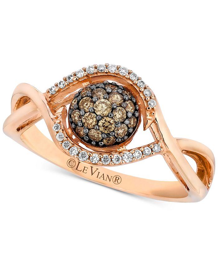 Le Vian - Diamond Cluster Ring (1/3 ct. t.w.) in 14k Rose Gold