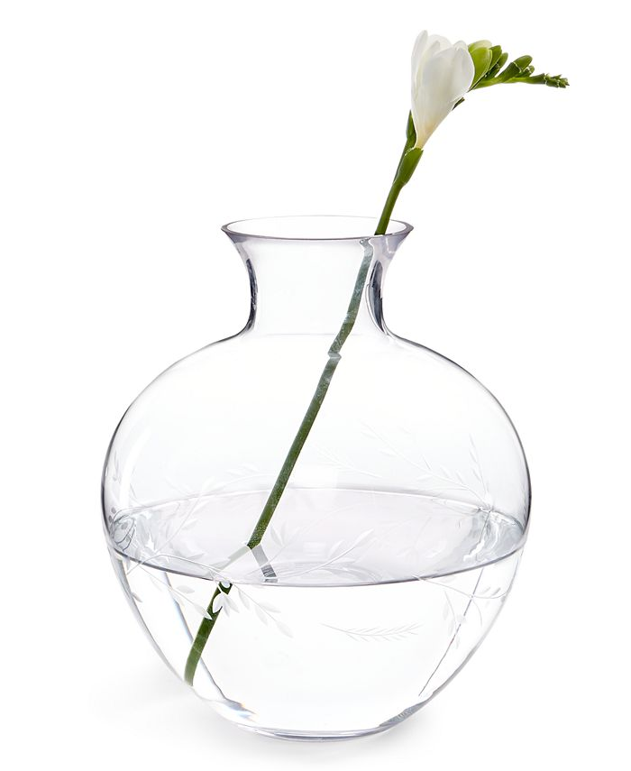 "Hotel Collection - Floral Cut 8"" Vase"