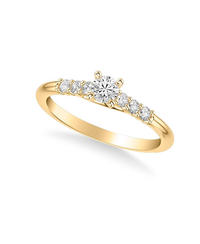 Macy's - Diamond Engagement Ring (3/8 ct. t.w.) in 14k Yellow, White or Rose Gold