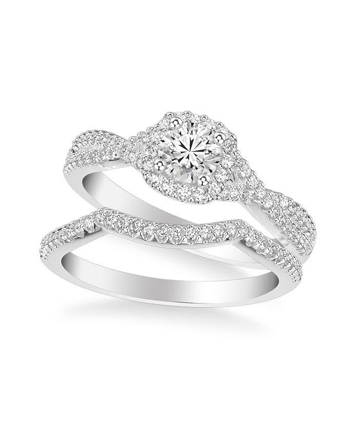 Macy's - Diamond Twist Bridal Set (1 ct. t.w.) in 14k White, Yellow or Rose Gold