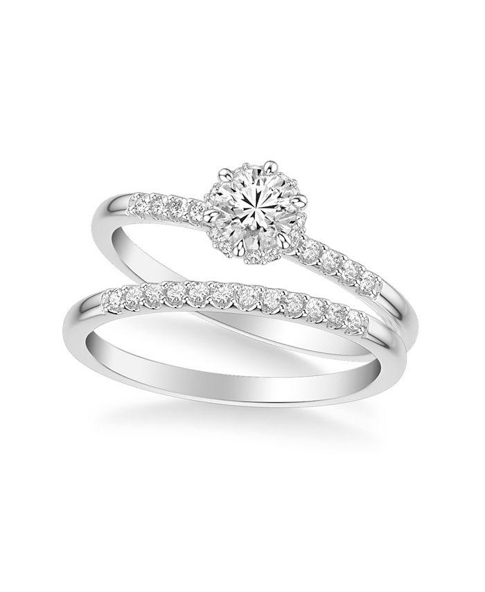 Macy's - Diamond Bridal Set (3/4 ct. t.w.) in 14k White, Yellow or Rose Gold