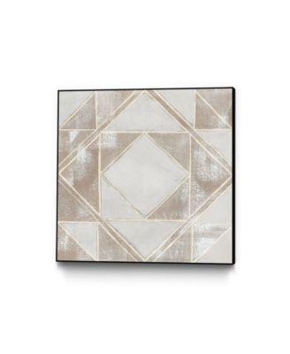 "30"" x 30"" Geometric Veil II Art Block Framed Canvas"