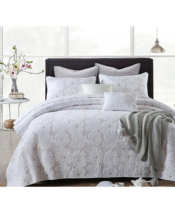 JANEEN HOME Madison Embroidered Cotton Quilt 3-Pc Set