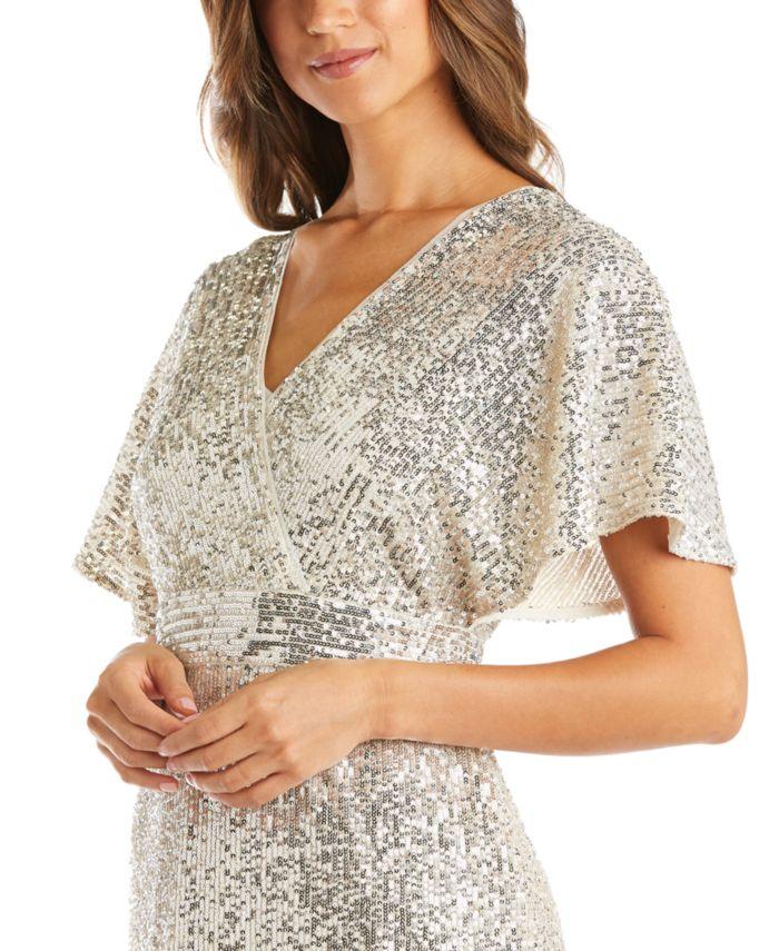 R & M Richards Sequinned Fit & Flare Dress & Reviews - Dresses - Women - Macy's