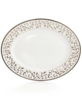 Lenox Opal Innocence Silver Oval Platter '13