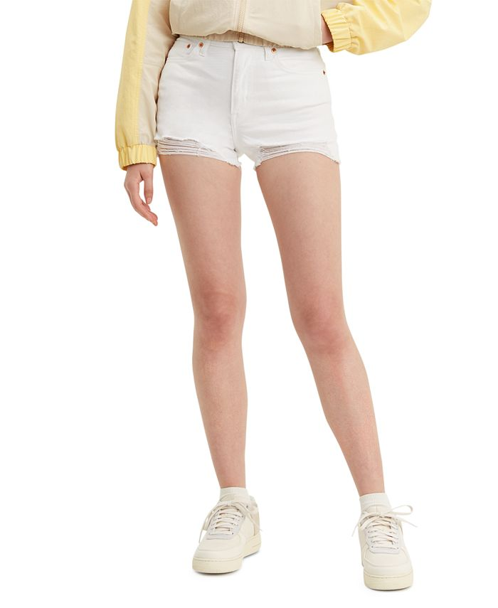 Levi's - High-Rise Distressed Denim Shorts
