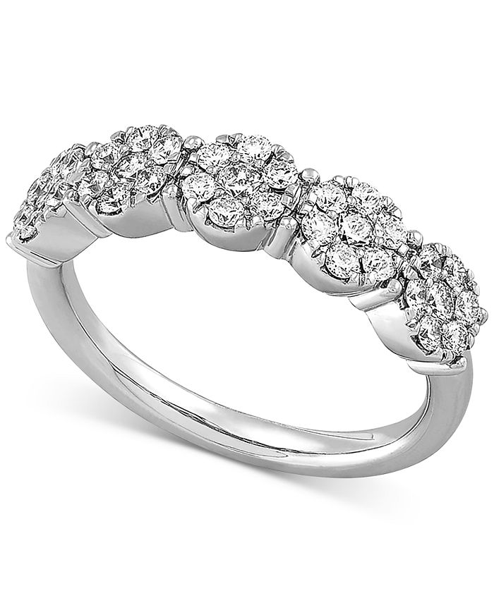 Forever Grown Diamonds - Lab-Created Diamond Cluster Statement Ring (3/4 ct. t.w.) in Sterling Silver