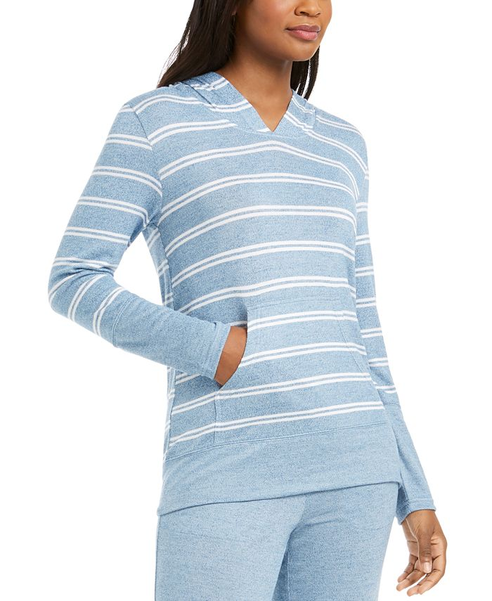 Alfani - Striped Pajama Hoodie