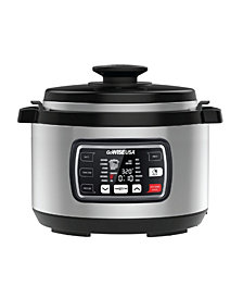 GoWISE USA 9.5 Quart Ovate Series Pressure Cooker with Accessories
