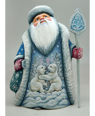 G Debrekht Woodcarved Playful Bears Santa Figurine Reviews Shop All Holiday Home Macy S