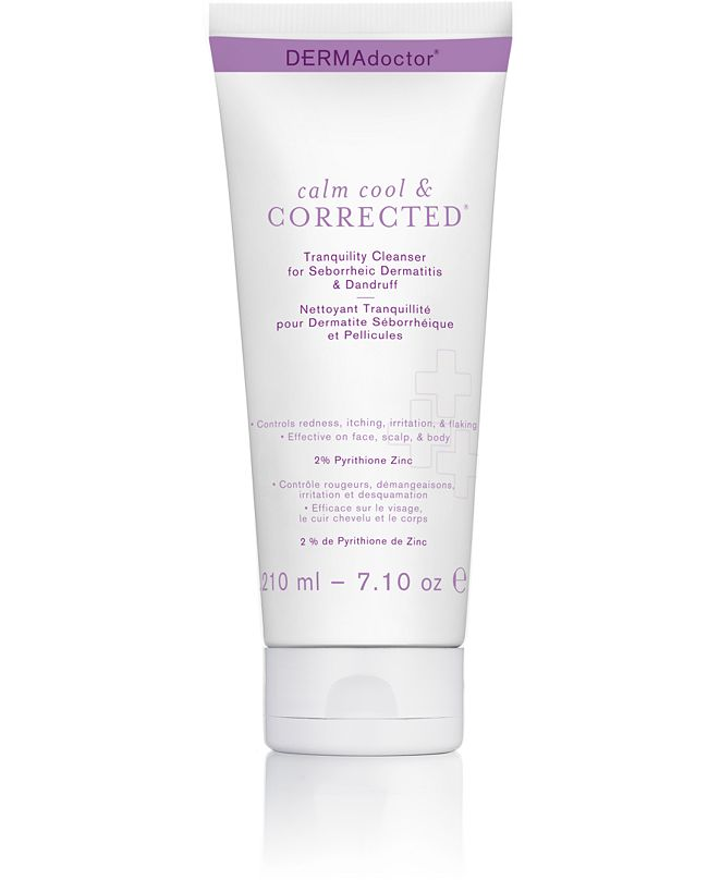 DERMAdoctor Calm Cool & Corrected Tranquility Cleanser For Seborrheic Dermatitis & Dandruff, 7.1-oz.