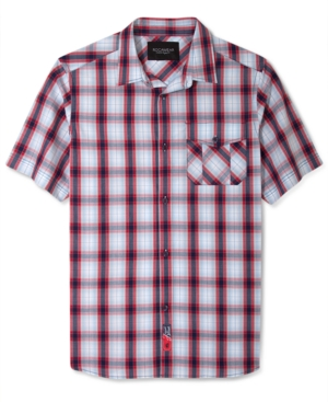 Rocawear Shirt Patriot Plaid Short Sleeve Shirt