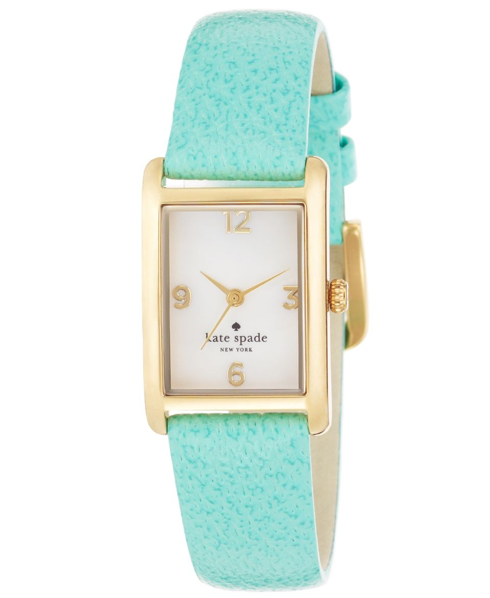 kate spade new york Watch, Womens Cooper Turquoise Leather Strap 32x21mm 1YRU0042   Watches   Jewelry & Watches