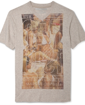 Sean John TShirt VNeck Lose Yourself Graphic Short Sleeve TShirt