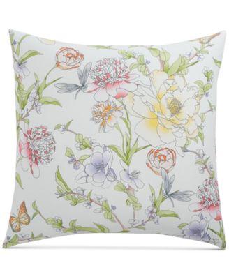 Blossom Cotton 300-Thread Count European Sham, Created for Macy's