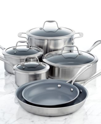 Zwilling J.A. Henckels Spirit Ceramic Nonstick 10-Pc. Cookware Set