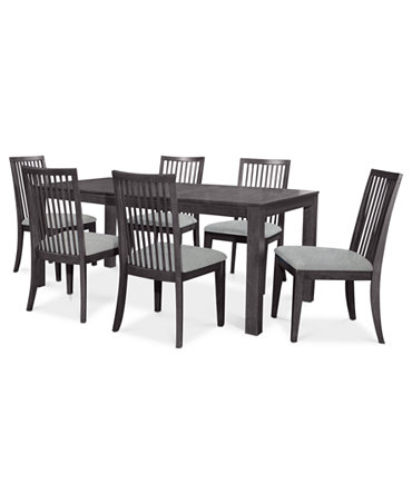 Slade Dining Room Furniture 7 Piece Set Dining Table And 6 Side Chairs F