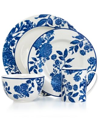 Martha Stewart Collection Orleans Cobalt 4-Piece Place Setting