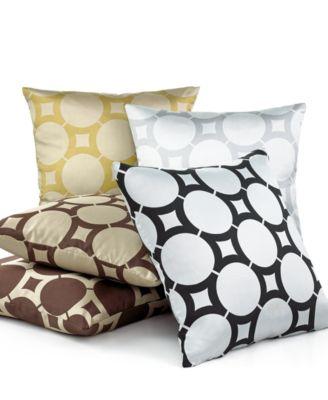 "Softline Element Circle 20"" Square Decorative Pillow"
