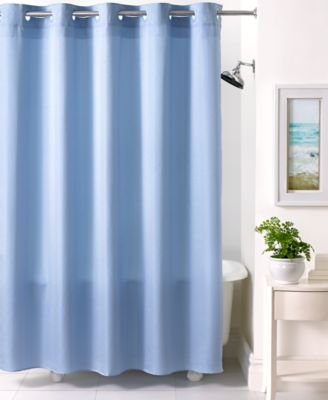 CLOSEOUT! Martha Stewart Collection Textured Stripe Hookless Shower Curtain