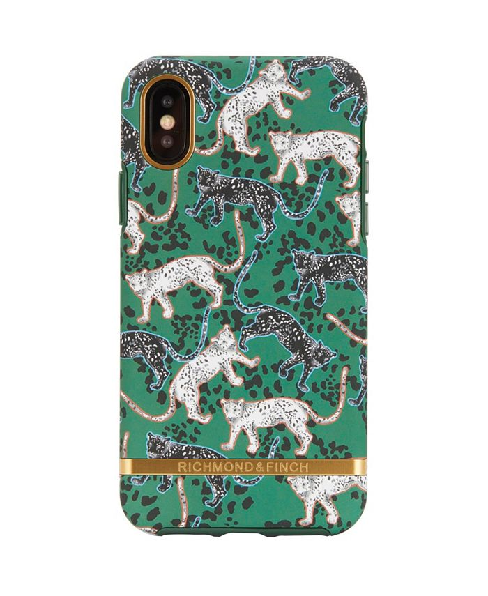 Richmond&Finch - Green Leopard Case for iPhone XS MAX