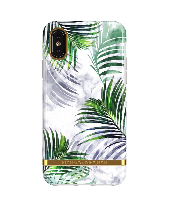 Richmond&Finch - White Marble Tropics Case for iPhone X and Xs