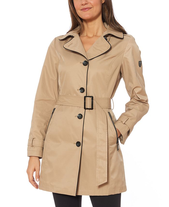 Vince Camuto - Hooded Single Breasted Raincoat