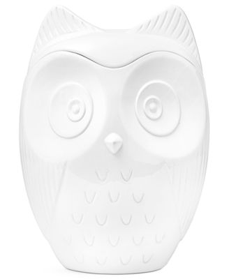 The Cellar Whiteware Figural Owl Cookie Jar
