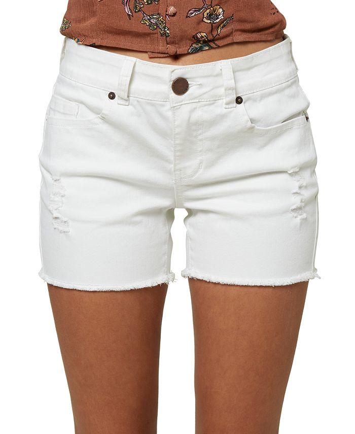 O'Neill - Juniors' Cody Ripped Denim Shorts