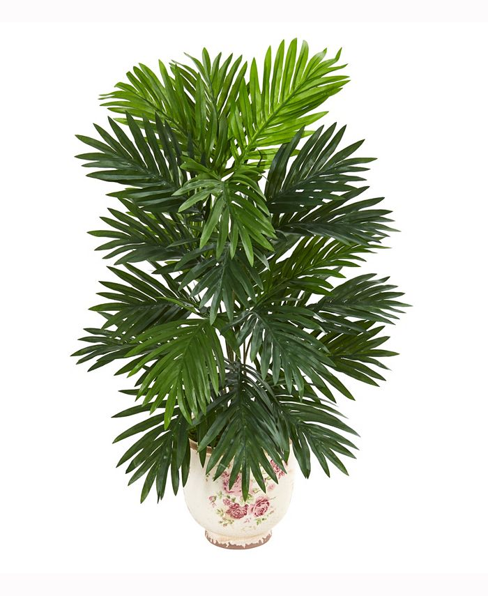 Nearly Natural - 25in. Areca Palm Artificial Plant in Floral Planter