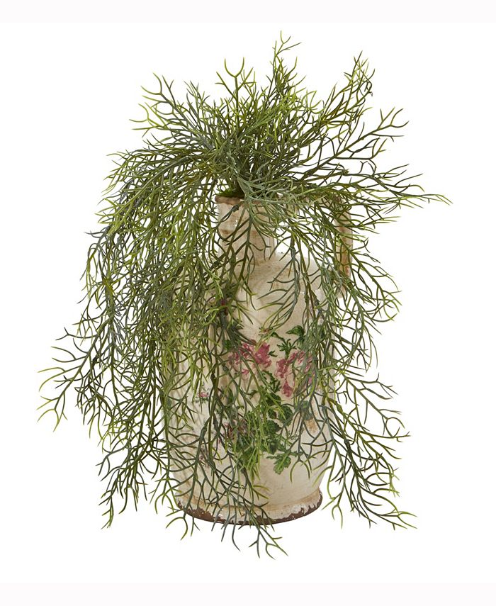 Nearly Natural - 13in. Tillandsia Moss Artificial Plant in Floral Pitcher