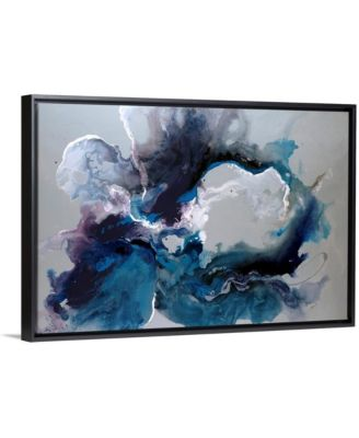 "'Cerulean waters' Framed Canvas Wall Art, 30"" x 20"""