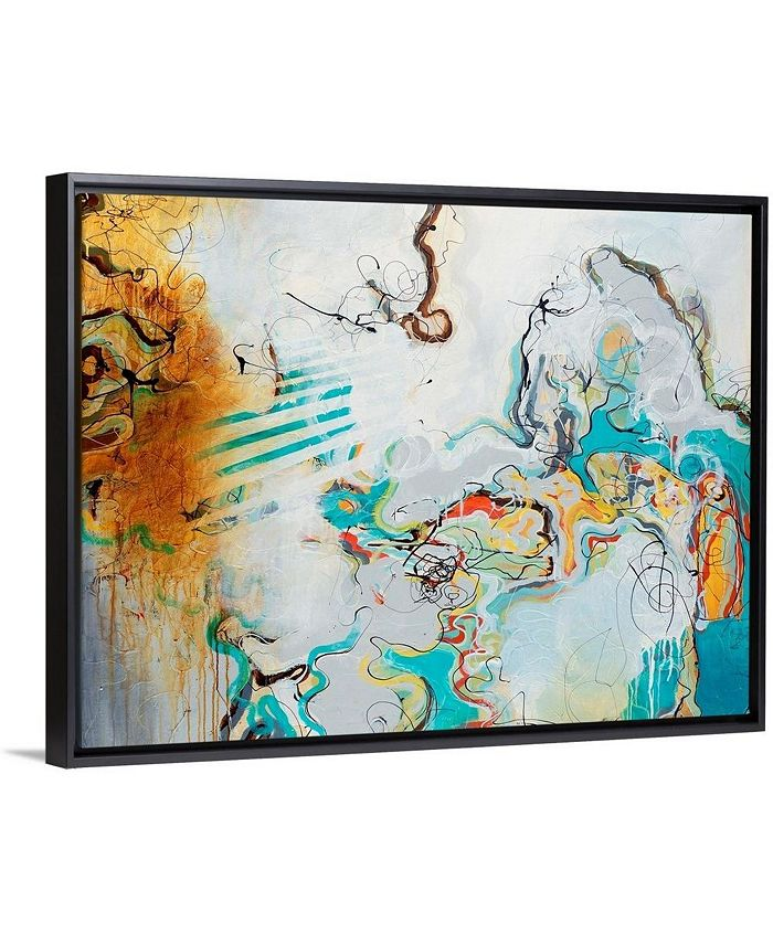 """GreatBigCanvas - 40 in. x 30 in. """"Playful Banter"""" by  Rikki Drotar Canvas Wall Art"""