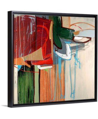 "'Kink' Framed Canvas Wall Art, 16"" x 16"""