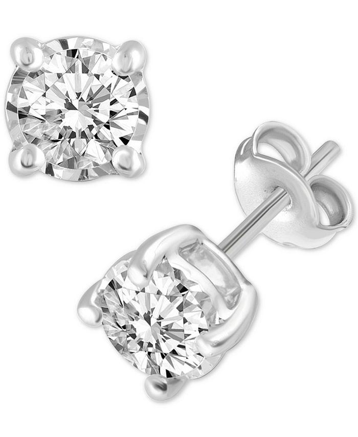 Macy's - Diamond Stud Earrings (3/8 ct. t.w.) in 14k White Gold