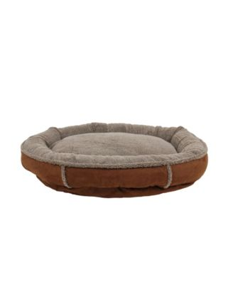 Tipped Berber Round Comfy Cup Dog Bed
