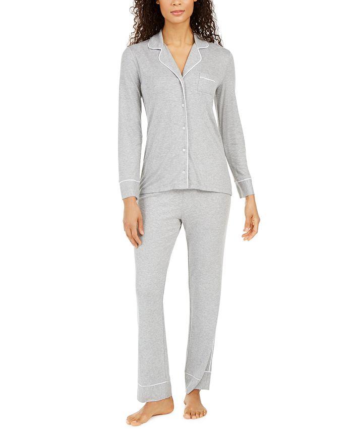 Alfani - Ribbed Pajamas Set