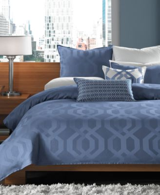 Hotel Collection Modern Hexagon King Duvet Cover