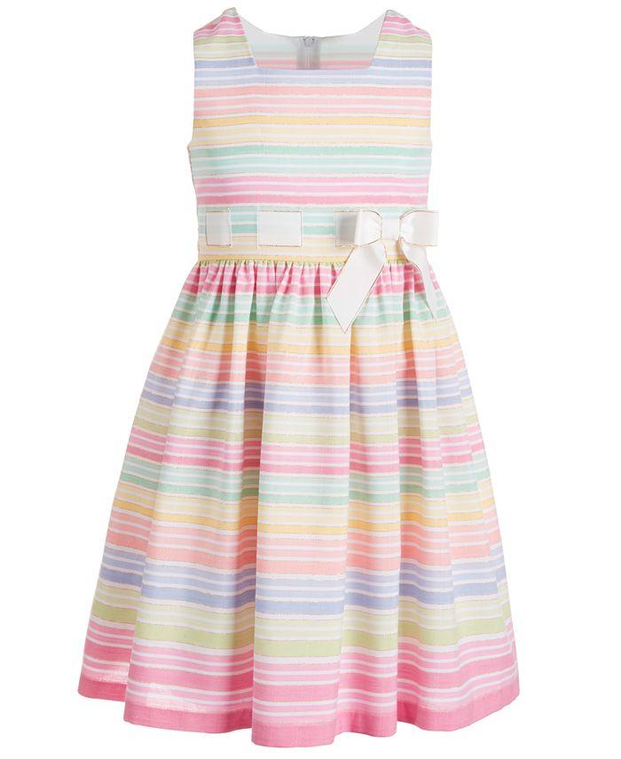 Bonnie Jean - Big Girls Striped Bow Dress
