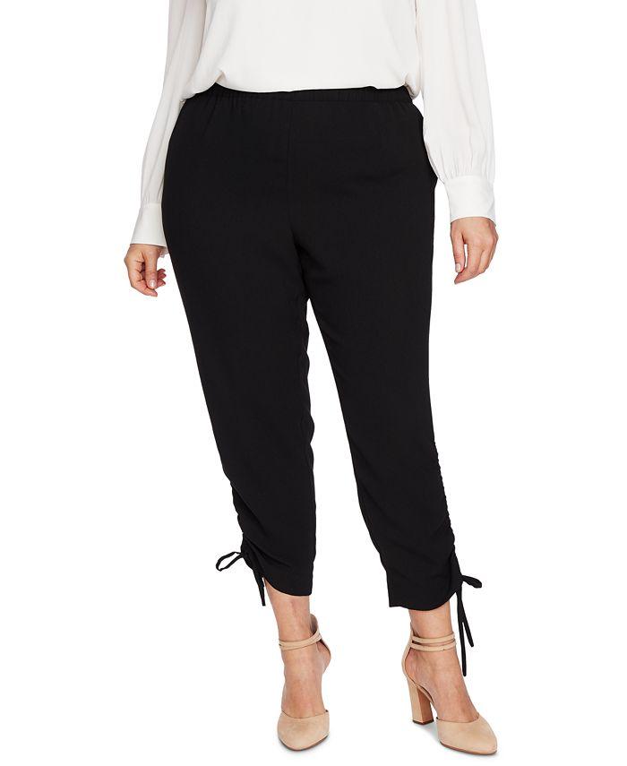 CeCe - Plus Size Side-Ruched Pants
