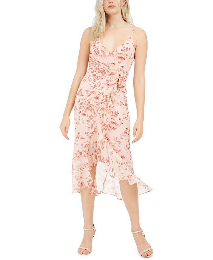 Bardot - Surplice Floral-Print Midi Dress